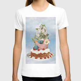 Cherry On Top / collage / moon water T-shirt