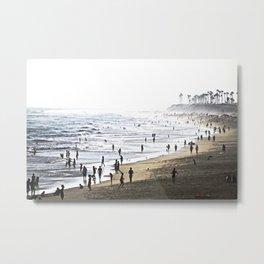 Abstract Foggy Day At Huntington Beach CA Metal Print