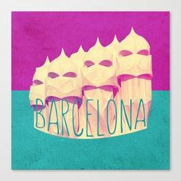 Barcelona Gaudi Paradise Canvas Print