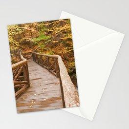 Autumn Boardwalk Bridge Stationery Cards