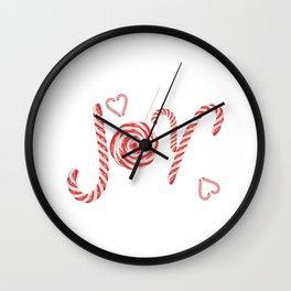 Sweet joy candy canes Wall Clock