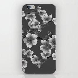 CHARCOAL GREY GARDEN  FRUIT TREES FLOWERS iPhone Skin