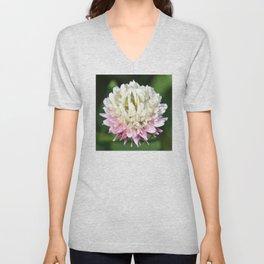 Flower | Flowers | One Clover Flower | Nature Photography | Nadia Bonello Unisex V-Neck