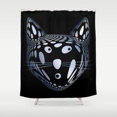Bubble Cat Shower Curtain