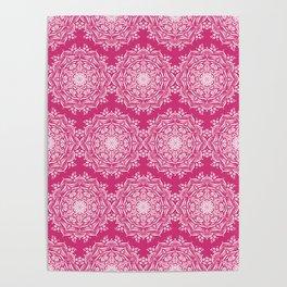 Lotus II Bold Pink Poster