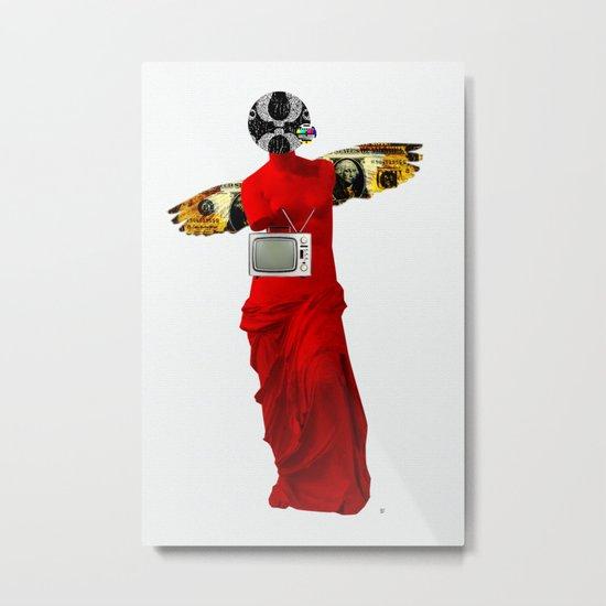 Statue Life TV · Red Flight Metal Print