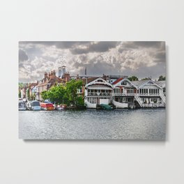 Boathouses At Henley on Thames Metal Print