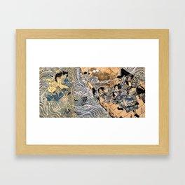 Kuniyoshi Utagawa, The ghost of Taira Tomomori, Daimotsu bay Framed Art Print