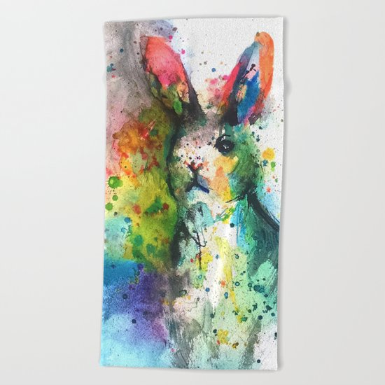 Bunny Splash Beach Towel