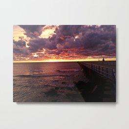 Pier Sunset Metal Print