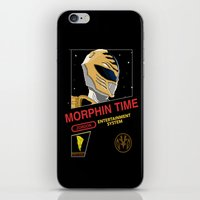 power rangers iPhone & iPod Skins featuring NES Power Rangers by IF ONLY