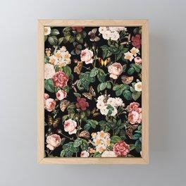 Floral and Butterflies Framed Mini Art Print
