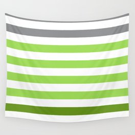 Stripes Gradient - Green Wall Tapestry