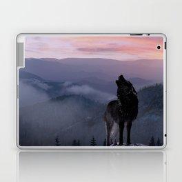 Lone Wolf at Sunset Ridge Laptop & iPad Skin
