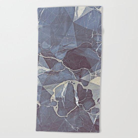 Geometric Marble Beach Towel