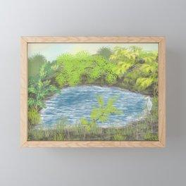Quiet Pond Framed Mini Art Print