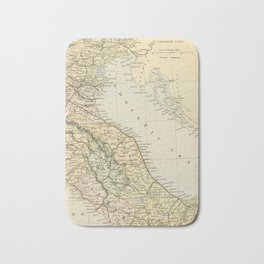 Retro & Vintage Map of Northern Italy Bath Mat