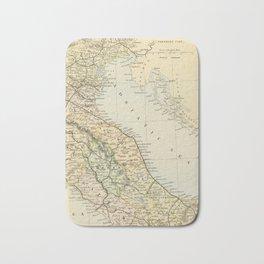 Retro & Vintage Map of Northern Italy Bath Mat