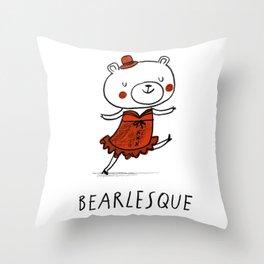 Bearlesque Throw Pillow