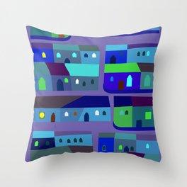 Tepito de Azul Throw Pillow
