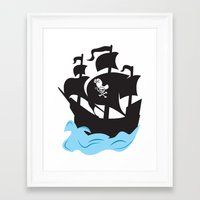 pirate ship Framed Art Prints featuring Pirate Ship by Anthony Rocco