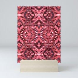 Red Bands and Swirls Mini Art Print