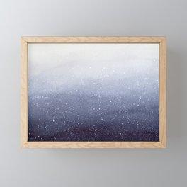 Falling Snow Framed Mini Art Print