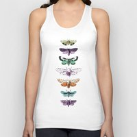 techno Tank Tops featuring Techno-Moth Collection by Zeke Tucker