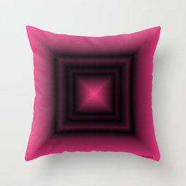Pink & Square Throw Pillow
