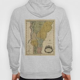 Vintage Map of Vermont (1814) Hoody