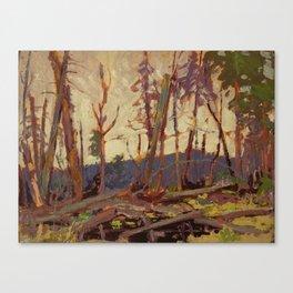 Tom Thomson Burnt Country, Evening 1914 Canadian Landscape Artist Canvas Print