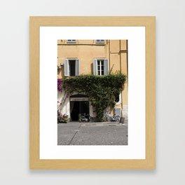 Shop in Rome Framed Art Print