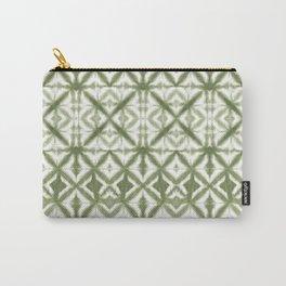 Breeze Block Shibori Olive Carry-All Pouch