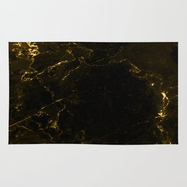 Black Gold Marble Rug