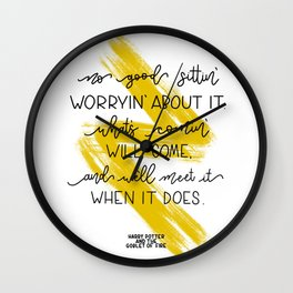 What's comin' will come.. Hagrid | J.K Rowling quote Wall Clock