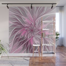 Abstract Pink Floral Dream Wall Mural