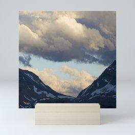 Epic Canadian Rockies Mountain Scenic & Breathtaking Clouds Mini Art Print