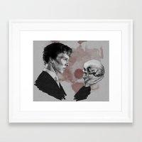 hamlet Framed Art Prints featuring Hamlet  by Cécile Pellerin