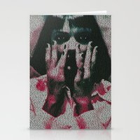 mia wallace Stationery Cards featuring Mia by Robotic Ewe