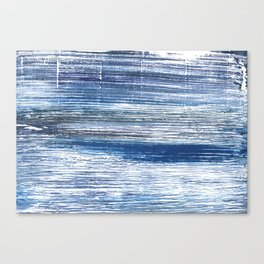 Metallic blue abstract watercolor Canvas Print