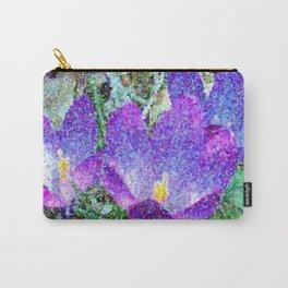 Purple Crocus Mosaic Carry-All Pouch