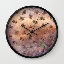 Early Rusty Autumn Wall Clock