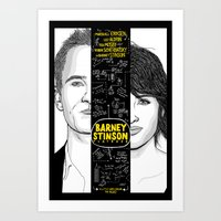 himym Art Prints featuring Barney Stinson Playbook (Silver Linings Playbook + HIMYM) by HuckBlade