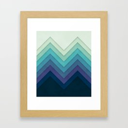 Retro Chevrons 001 Framed Art Print