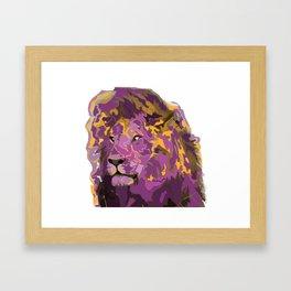 Lion in Royal Colors Framed Art Print
