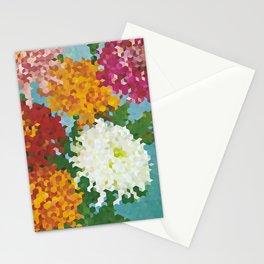 Chrysanthemums 3 Stationery Cards