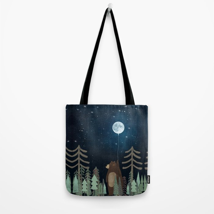 the moon balloon Tote Bag
