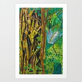 Imaginary Rainforest III Art Print