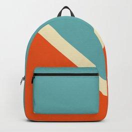 Surfing Summer Retro Style Stripes Akycha Backpack