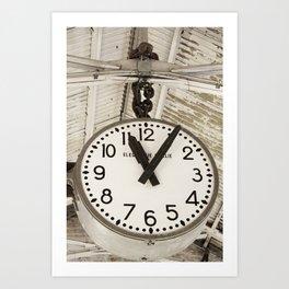 Chelsea market clock NY Art Print